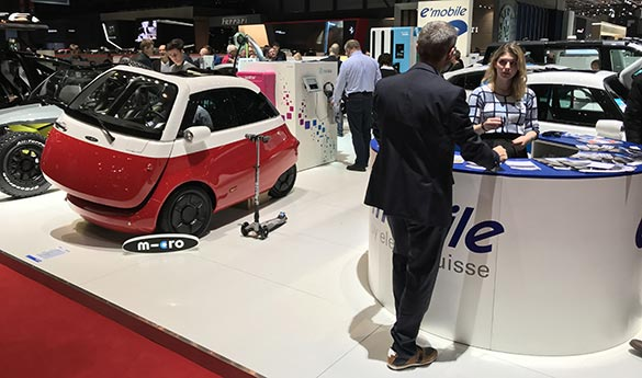 e-mobile au salon de l'automobile de Genève