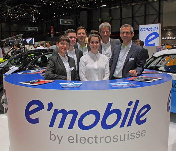 Gemeinschaftsstand e-mobile am Automobil-Salon Genf 2017